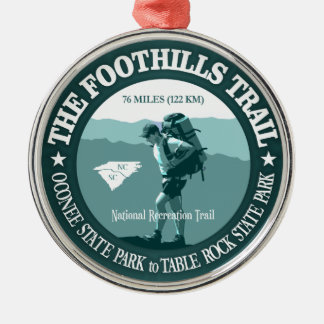 Foothills Trail Round Metal Christmas Ornament