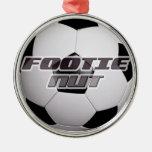 Footie Football Nut Metal Ornament