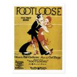 Footloose Vintage Songbook Cover Post Card