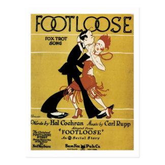 Footloose Vintage Songbook Cover Postcard