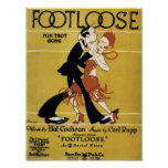 Footloose Vintage Songbook Cover Poster