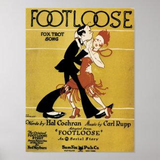 Footloose Vintage Songbook Cover Poster