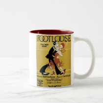 Footloose Vintage Songbook Cover Two-Tone Coffee Mug