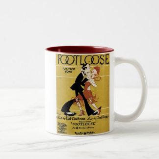 Footloose Vintage Songbook Cover Two-Tone Coffee Mug