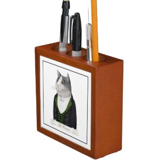 Footman Cat Desk Organizer