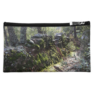 Footpath covered with nature in the mountain range cosmetic bag