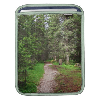 footpath on forest sleeves for iPads