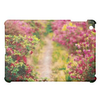 Footpath with azaleas iPad mini cover