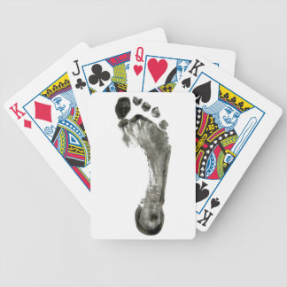 Footprint Bicycle Playing Cards