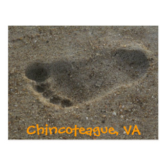 Footprint Chincoteague, VA Postcard