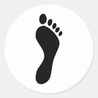 footprint classic round sticker