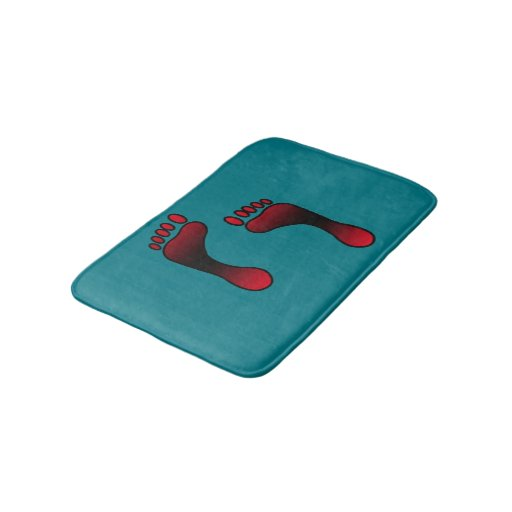 Footprint Custom Small Bath Mat Zazzle