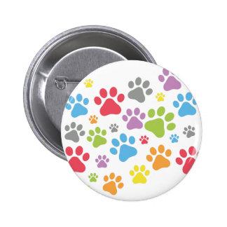 Footprint Dog Button