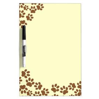 footprint dog Dry-Erase board