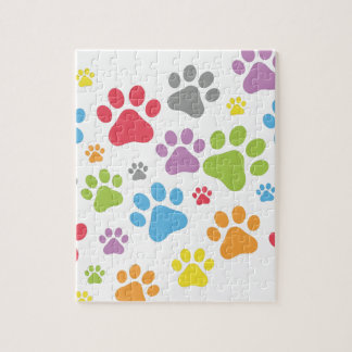 Footprint Dog Jigsaw Puzzle