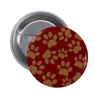 footprint dog pinback button