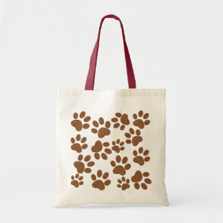 footprint dog tote bag