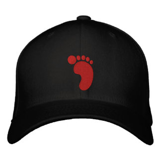 Footprint Embroidered Baseball Caps