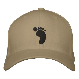 Footprint Embroidered Hat