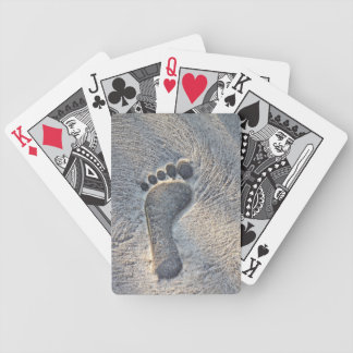Footprint Impression - Bicycle Playing Cards