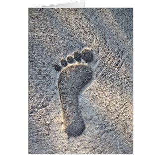 Footprint Impression - Greeting Card