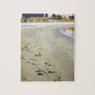Footprint in coast. jigsaw puzzle