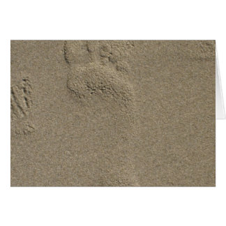 Footprint in the Sand Photography Art Greeting Card