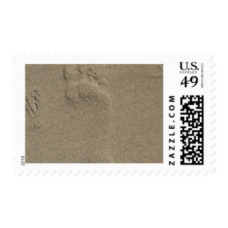 Footprint in the Sand Photography Art Stamp