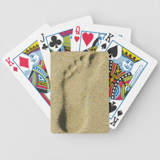 Footprint in the Sand Bicycle Poker Deck