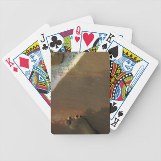 Footprint in the sand bicycle playing cards