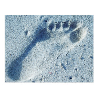Footprint in the Sand Postcard
