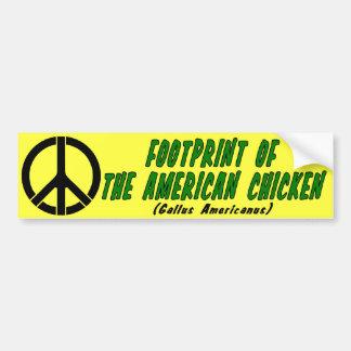 Footprint of The American Chicken Car Bumper Sticker