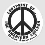 Footprint of the American Chicken (Style 1) Classic Round Sticker