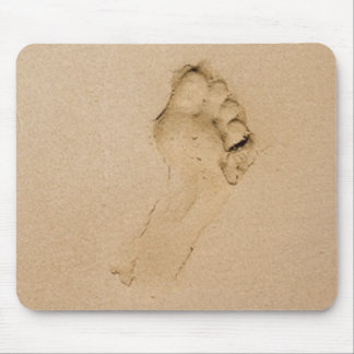 Footprint on the Beach Mouse Pad