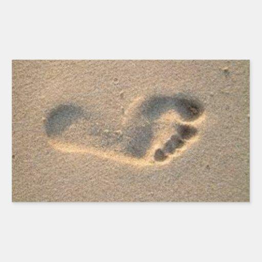 footprint pegatina rectangular