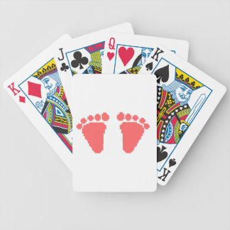 footprint playing cards