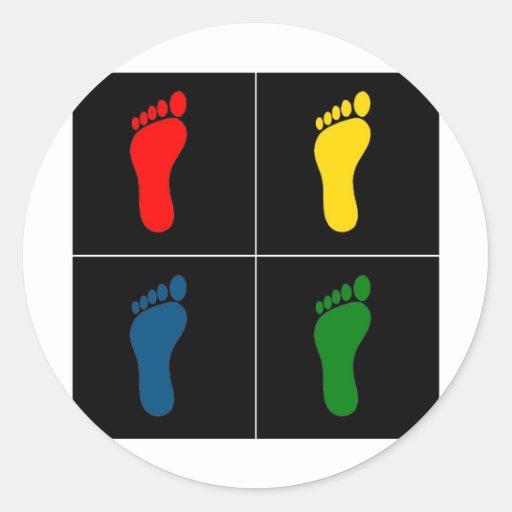 Footprint Pop Art V3 Classic Round Sticker