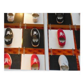 Footprint Shoe Postcard