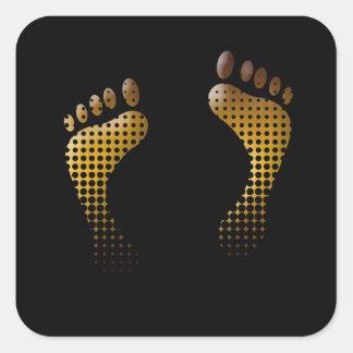 Footprint Square Sticker