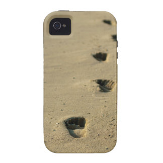 Footprints alongside the sea Case-Mate iPhone 4 covers