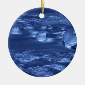 Footprints at the South Pole Ceramic Ornament