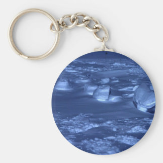 Footprints at the South Pole Keychain