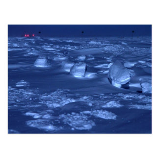 Footprints at the South Pole Postcard
