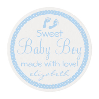 Footprints Baby Shower- Edible Frosting Rounds