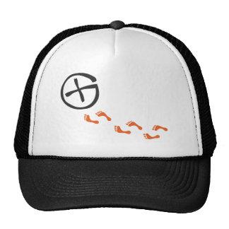 Footprints - black trucker hat