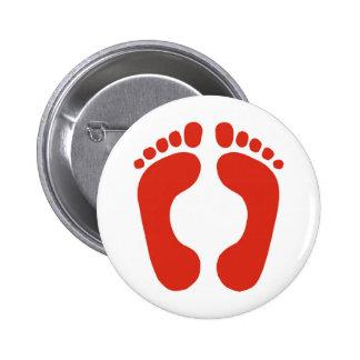 Footprints Pinback Button