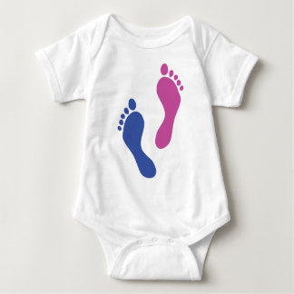 footprints colored baby bodysuit