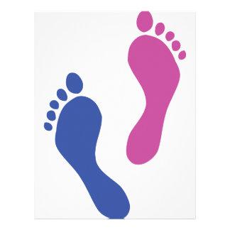 footprints colored letterhead design