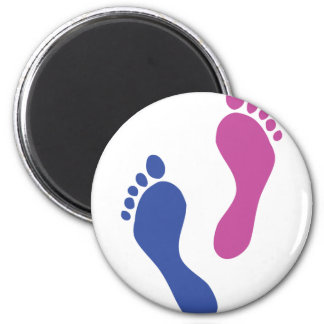 footprints colored magnet