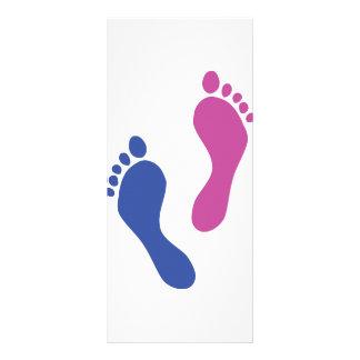 footprints colored rack card design